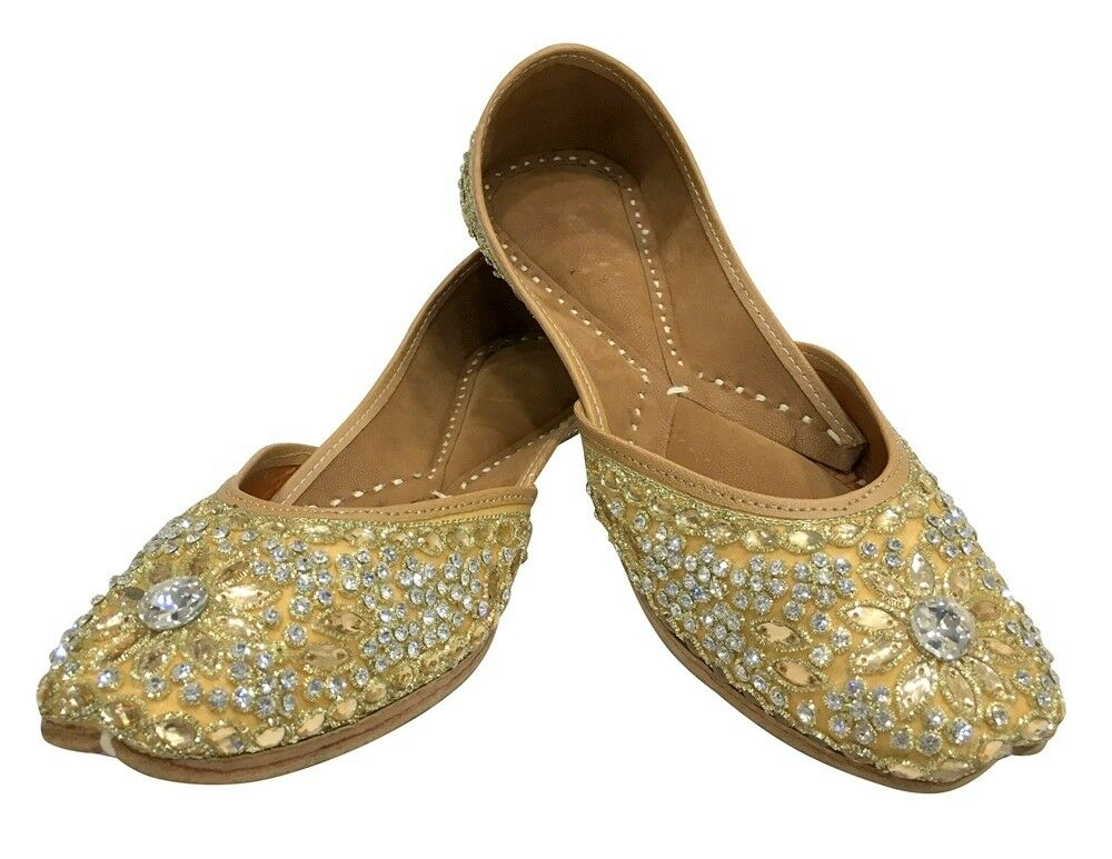 Etats-unis Punjabi Jutti Flip Flop Khussa Shoes Indian Chaussures Orteil Mariage Chaussures Ss118
