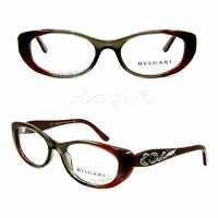 BVLGARI 4057-B 5210 Colored Stone 50/17/135 Eyeglasses Eyewear Made Italy New