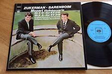 Mozart ZUKERMAN BARENBOIM violin concerto English Chamber LP CBS S72 859