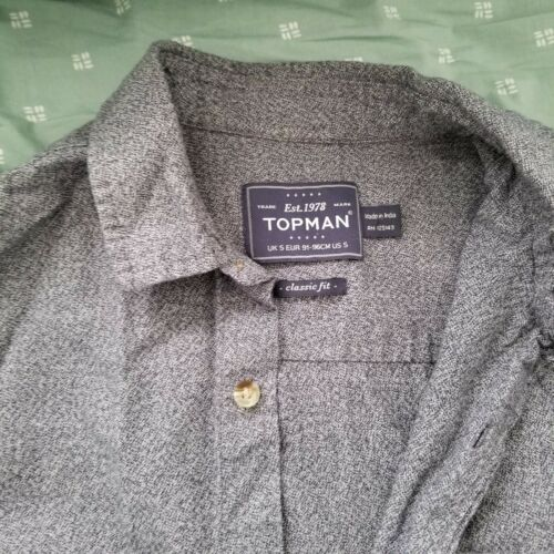 TOPMAN Long Sleeve Heathered Long Sleeve + Bonus S