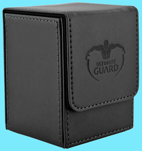 ULTIMATE GUARD LEATHERETTE FLIP DECK CASE Standard Size BLACK 100 Game Card Box