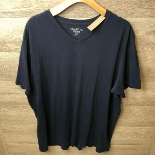 J Crew Mercantile Mens Size 2XL Navy Blue Broken In V Neck Short Sleeve T Shirt