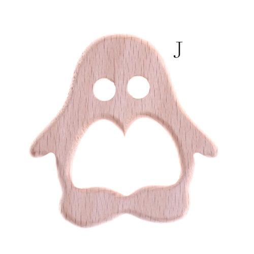 Wooden Safe Natural Cute Animal Shape Ring Baby Teether Teething Cute ShoweBLCA