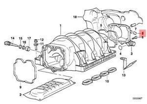 genuine engine intake manifold cap bmw e23 e24 e28 e30 e31 e32 e34 E46 Engine Diagram image is loading genuine engine intake manifold cap bmw e23 e24