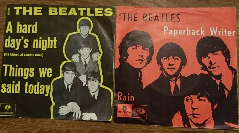Single, The Beatles, A Hard days night & Paperback writer