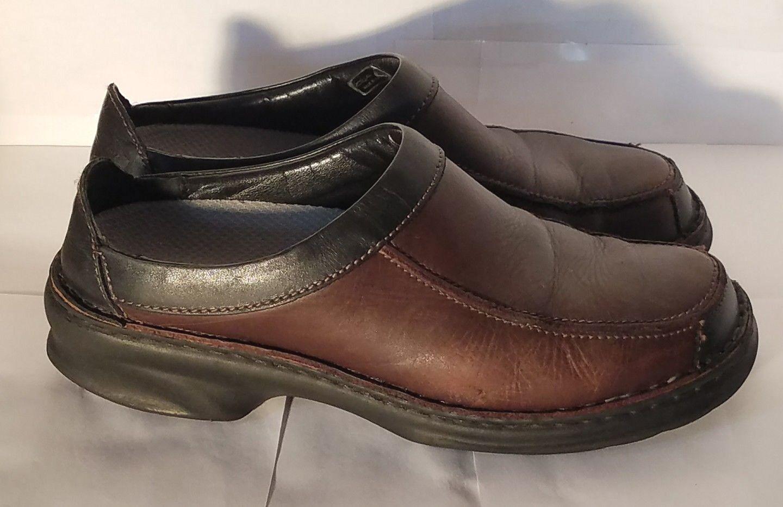 Women's Joseph Seibel Slip On Walking Shoe Brown Leather Clog Mule US 10