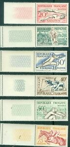 FRANCE-700-705-MINT-NEVER-HINGED-ISSUED-1953