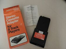 VINTAGE REALISTIC STEREO CASSETTE ADAPTOR FOR 8 TRACK PLAYERS 12-1875A IN BOX