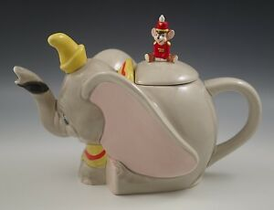 WALT-DISNEY-DUMBO-AND-TIMOTHY-THE-MOUSE-CERAMIC-TEAPOT-RARE