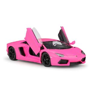 Welly-1-24-Lamborghini-Aventador-LP700-4-Diecast-Model-Racing-Car-Toy-Pink-NIB