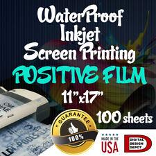 Waterproof Inkjet Transparency Film For Screen Printing 11x17 100 Sheet 4mill