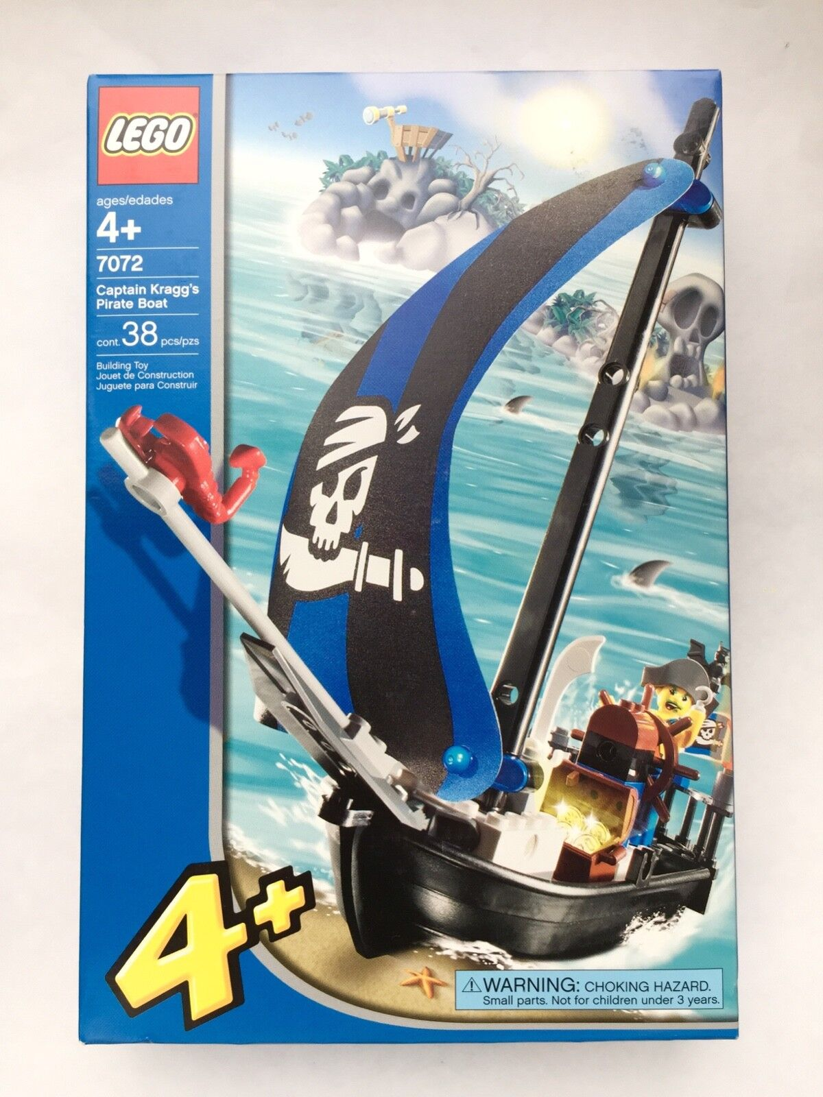 Lego 7072 Captain Kragg's Pirate Boat 38 Pcs