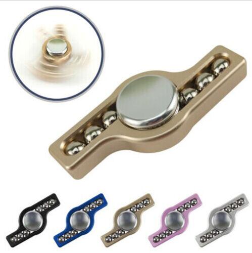 Silver Hand Bearing Fidget Spinner Aluminum SteelBall Finger Gyro