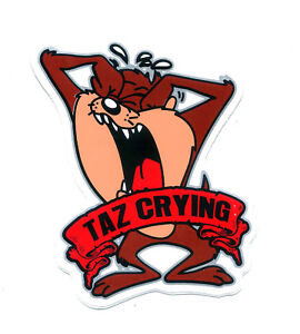 TAZ Tasmanian Devil Vynil Car Sticker Decal 12/""