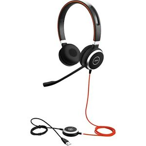 Jabra Evolve 40 MS On the Ear Wired Headset - Black Stereo