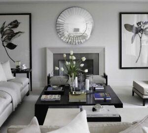 Mid Century Modern Wall Mirror Hollywood Regency Decor 40 Z Gallerie Style Xl Ebay