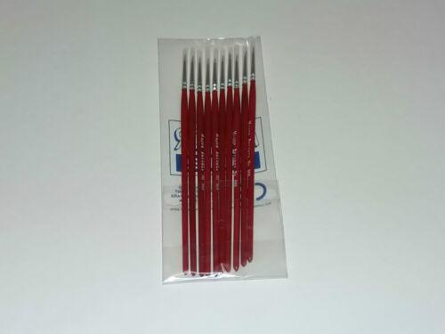 MODELLNG FINE PAINT BRUSH BRUSHES  SIZE 000 SABLE MODEL pack of 10