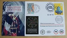 CHANNEL TUNNEL RUNNING TUNNEL BREAKTHROUGH 1991 COVER VARIOUS HANDSTAMPS