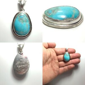 Turquoise necklace Natural Turquoise Untreated Sterling Silver Silver Turquoise pendant