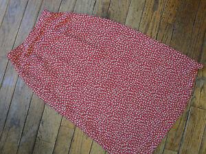 de2411700 Talbots Red Print Skirt Size 8P