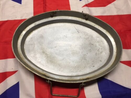 British Army Aluminium Oval Dixie Pot Lid Great Frying Pan Skillet on Open Fire