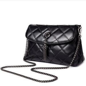 Image Is Loading Women Messenger Shoulder Bags Las Leather Handbags Chain