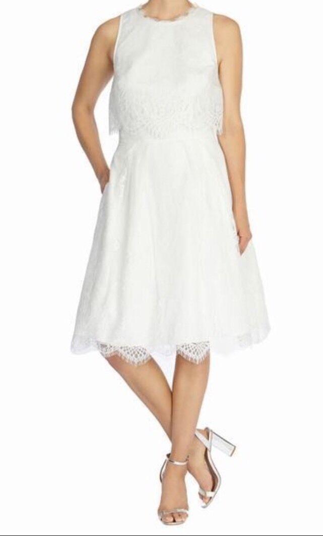 BNWTCoastGröße 12 Ivory   Weiß Lace Prom Dress (40EU)New
