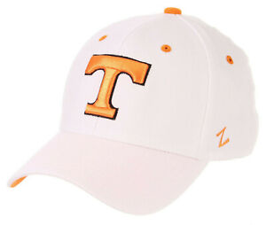 TENNESSEE-VOLUNTEERS-VOLS-WHITE-FLEX-FIT-STRETCH-Z-CAP-HAT-ADULT-Z-FIT-SIZES-NWT