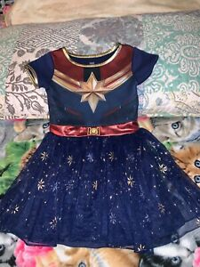Marvel Captain Marvel Girls Costume Dress Xs 4 5 Blue Gold New Ebay Buy marvel costumes, become a new hero in the life of a certain character.just choose your favourite superhero costume. ebay