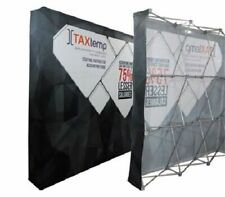 10 Velrco Tension Fabric Trade Show Pop Up Display Booth Frame Stand Free Case