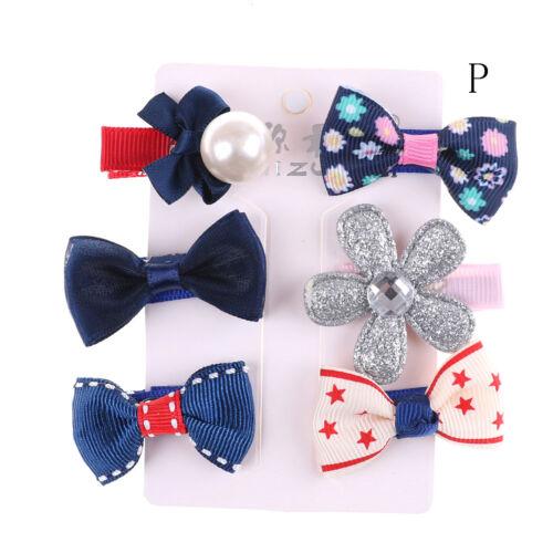 1set épingle à cheveux bébé fille clip Bow flower mini barrettes Star