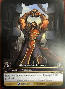 Details about WORLD OF WARCRAFT WOW TCG RARE EXTENDED ART : KEYS TO THE  ARMORY