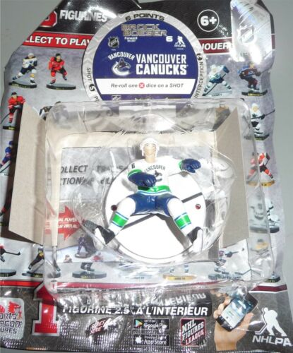 """Brock boeser Vancouver Canucks Argent 2.5/"""" série 4 NHL Imports Dragon Toy Loose"""