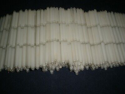 300 Pieces Frosted Glass Rods Stick, Chandelier Parts Glass