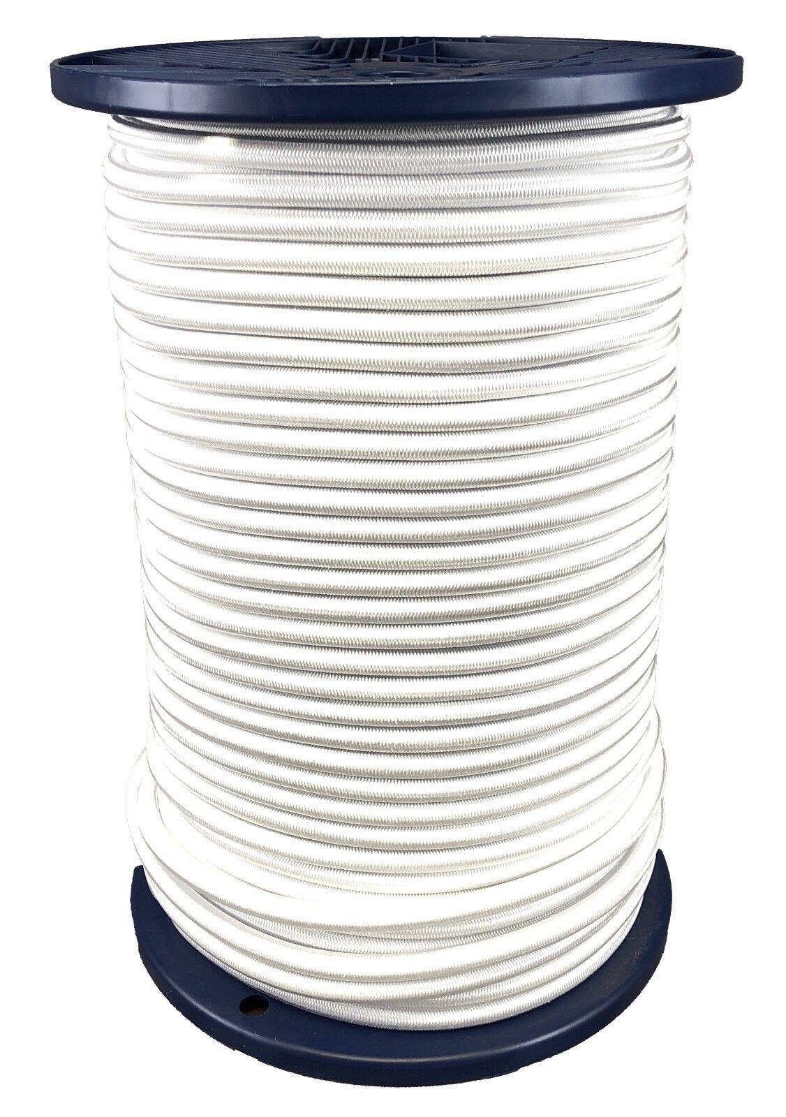 12mm wit Elastic Bungee Rope x 35 Metres Shock Cord Binden Down