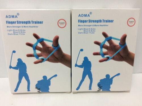Details about  /Lot 2 Finger Exerciser Strength Wrist Forearm Grip Trainer Resistance Band 3 Pk