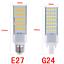 5050SMD-5W-7W-9W-11W-13W-LED-Lugar-Maiz-Horizontal-Plug-Ligero-Downlight-E27-G24 miniatura 6