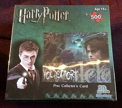 Harry Potter Visual Echo Lenticular 3D Effect 500 pc Jigsaw Puzzle NEW SEALED #2
