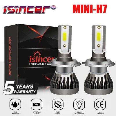 4Pcs Car Combo H11 H7 LED Headlight Bulbs Kit High Low Beam Total 45000LM 6500K