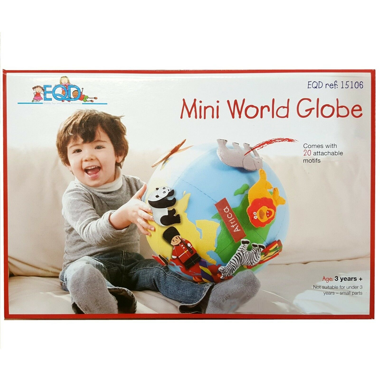 Welt Globe with Fabric Cover & 20 Attachable Motifs & Pump - schule Educational