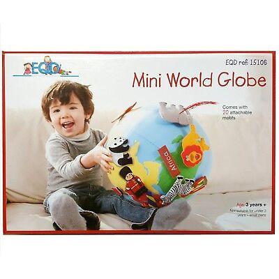 Qualità Al 100% World Globe With Fabric Cover & 20 Attachable Motifs & Pump - School Educational