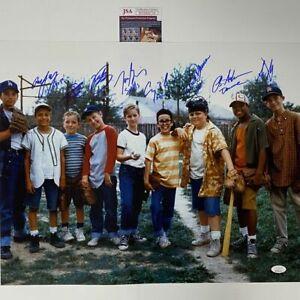 Autographed/Signed THE SANDLOT 8x CAST SIGNED 16x20 Baseball Movie Photo JSA COA