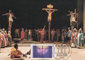 L61-carte-1-er-Jour-ALLEMAGNE-BONN-1-16-2-1984-PASSIONSSPIELE-OBERAMMERGAU