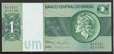 1970-1972 P-191Ac Brazil UNC Note 1 Cruzeiro ND