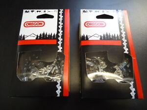 "2 Oregon 36/"" 75JGX114G Full Chisel Skip Tooth Chainsaw Chain 3//8 .063 114 DL"
