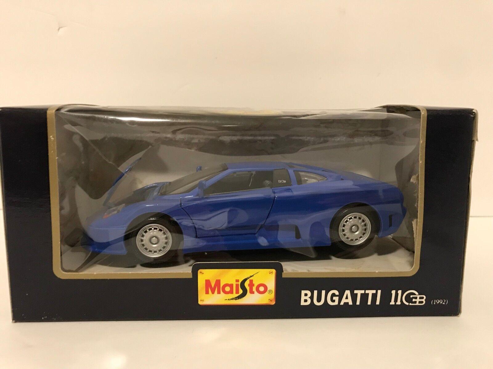 Maisto 1992 Bugatti EB 110 Diecast Voiture (Bleu) 1 24