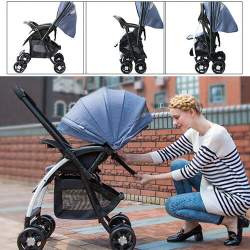landau Bébé poussette système de voyage poussette buggy Foldable Infant Pushchai