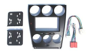 s l300 mazda 6 black double din dash kit radio stereo wiring harness 2004 mazda 6 wiring harness lights at virtualis.co