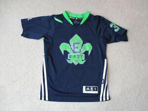 Adidas Dwyane Wade All Star Basketball Jersey Youth Small Blue Miami Heat Kids Ebay