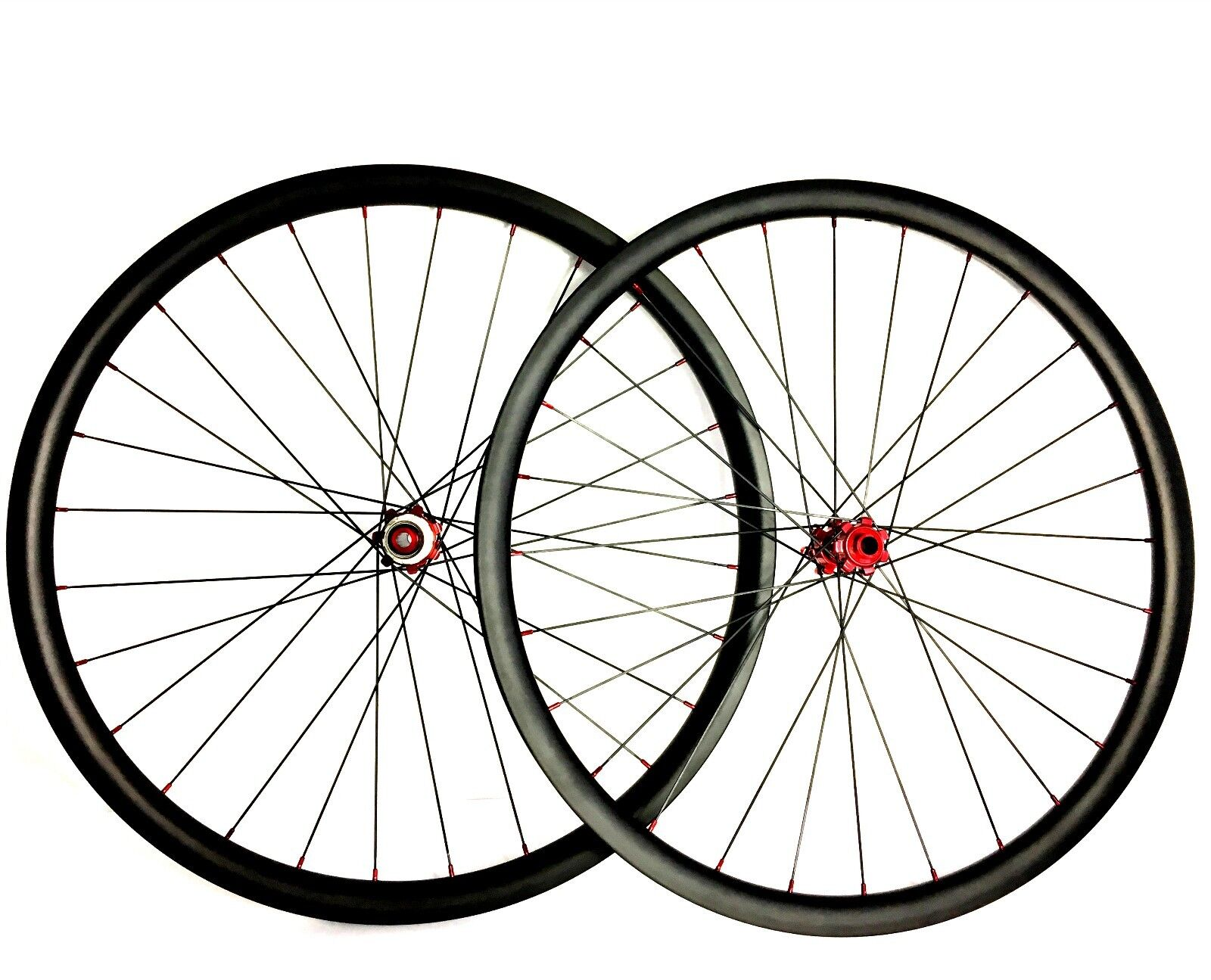 29 inch 33mm asymmetric carbon fiber mountain bike wheels with powerway M32 hub